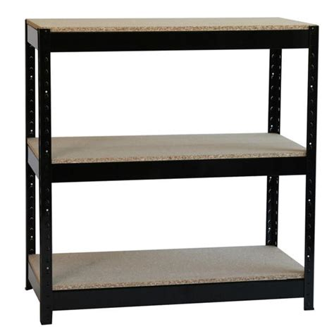 3 tier boltless shelf unit heavy duty black