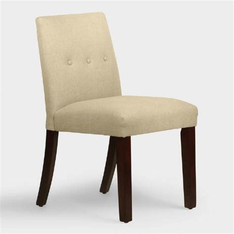 world upholstered dining chairs linen jule upholstered dining chair world market