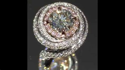 3 cttw Round and Pink Diamond Cartier style Engagement