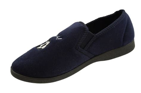 size 4 boys slippers mens boys navy blue shoes slip on football