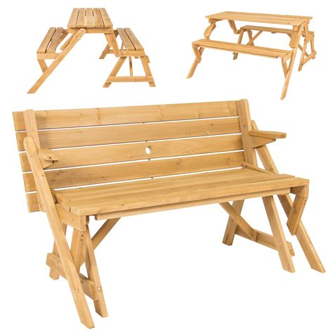 2 in 1 bench and picnic table bcp patio 2 in 1 outdoor interchangeable picnic table