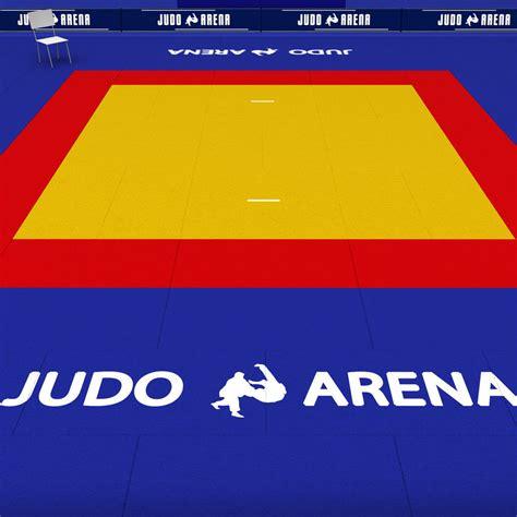 tatami de 3d model judo tatami sport arena low poly vr ar low