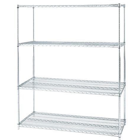 seville classics heavy duty 4 tier chrome wire shelving