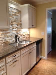 stacked stone backsplash pinterest luchtsteen related keywords amp suggestions