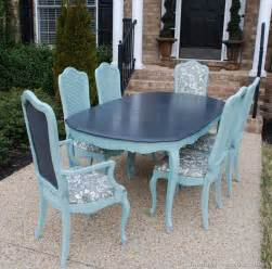 Chalk Paint Dining Room Table Vintage Thomasville Dining Room Table Refinished In Duck Egg Blue Graphite Chalk Paint