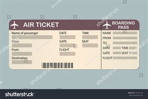 free boarding pass template airline ticket template free