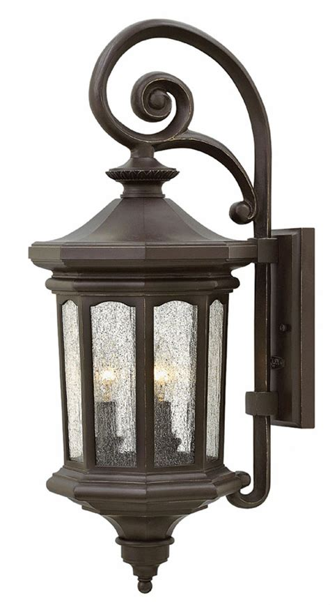Traditional Outdoor Lights Hinkley 1604oz Raley Traditional Rubbed Bronze Exterior Wall Sconce Lighting Hin 1604oz