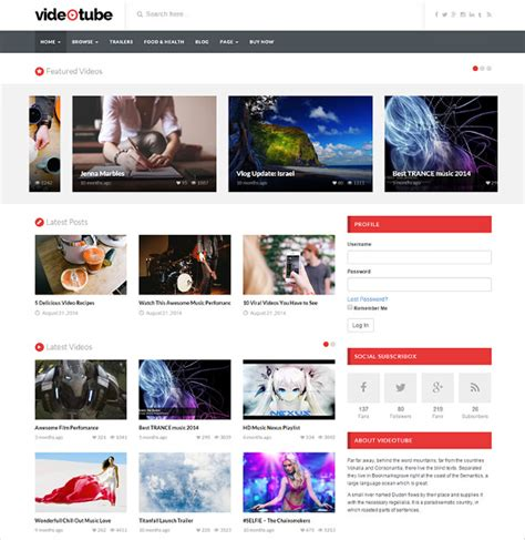 Theme Wordpress Video Youtube Free | 13 youtube wordpress themes templates free premium