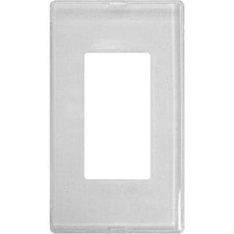 hton bay acrylic mirror 3gang decora wall clear switch plates wall plates the home depot