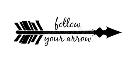follow your arrow silhouette stock vector illustration