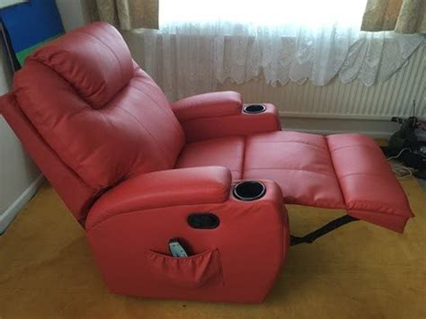 how to fix a recliner that leans to one side homcom deluxe heated vibrating pu leather massage recliner