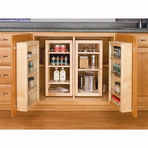 kitchen cabinets organizers swing out complete pantry system rev a shelf 4w series