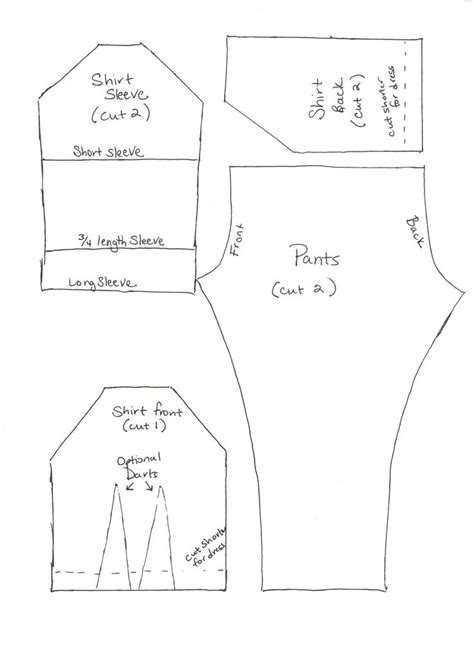 barbie doll clothes pattern template 17 best images about para barbie on pinterest vintage