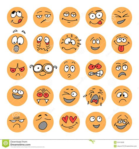 doodle emoticon set of emoticons doodle characters