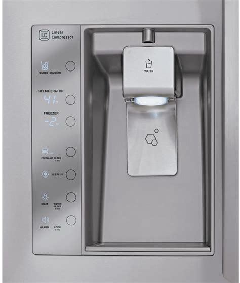 Water Dispenser Lg lg lfx29927st 29 2 cu ft door refrigerator with 4