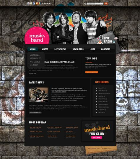 band joomla template 35173