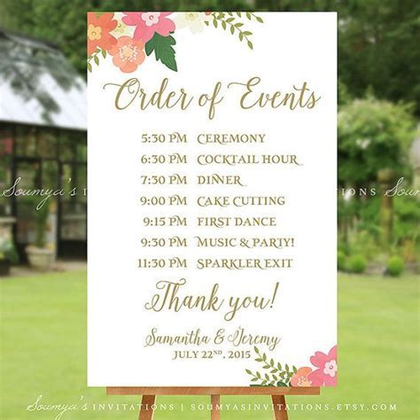 Top 25  best Wedding schedule ideas on Pinterest