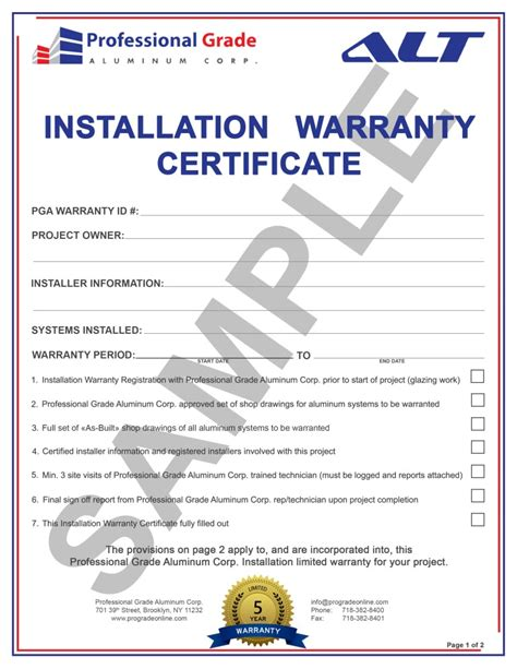 warranty certificate template certificate of guarantee sle images certificate