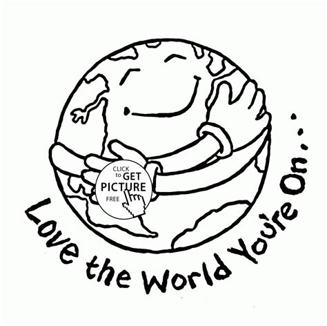 free printable coloring pages earth day the world earth day coloring page for