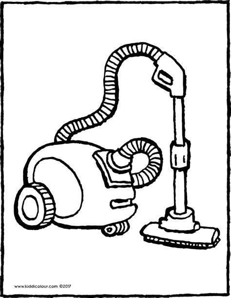 coloring pages vacuum cleaner at home colouring pages page 3 of 5 kiddi kleurprenten