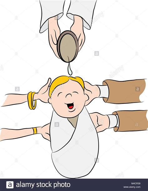 clipart battesimo an image of a child water poured on his