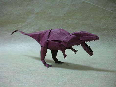 Origami Simple Shuki Kato - origamido giganotosaurus compare it to the