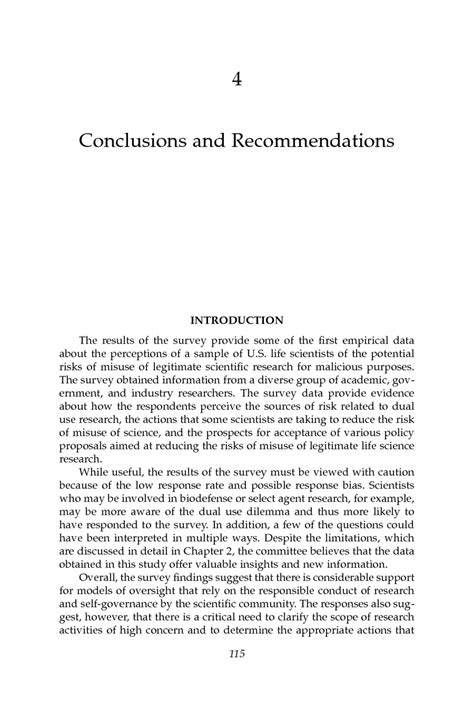 research paper recommendation exle 4 conclusions and recommendations a survey of attitudes