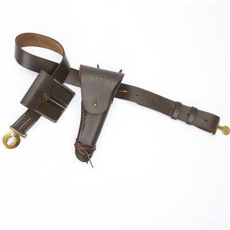 u s wwii m1916 45cal 1911 pistol leather holster belt