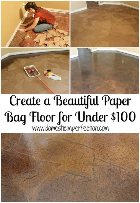 how to build a brown paper bag floor construction and