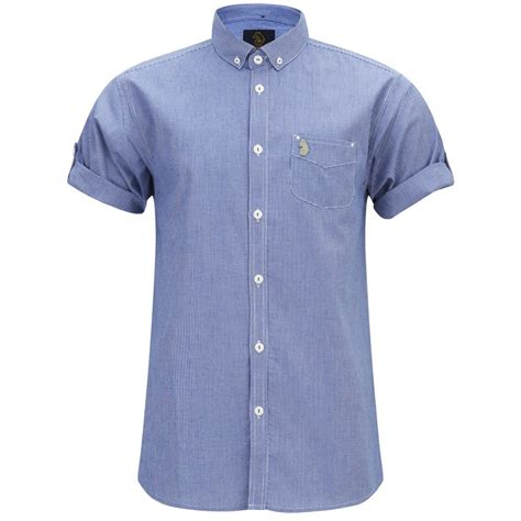 Poloshirt Shanghai White If Kp luke s kp sleeve button collar shirt blue white free uk delivery 163 50