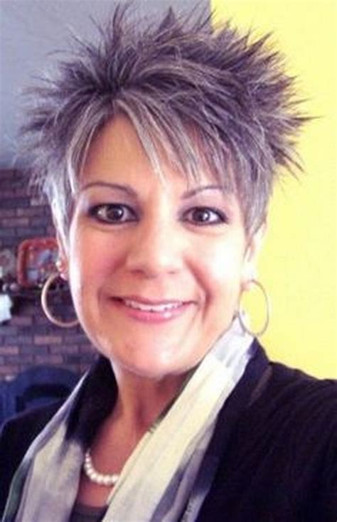 spikey styles for grey hair short spikey hairstyles for women over 40