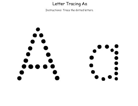 The Trace trace the letter a simple kiddo shelter