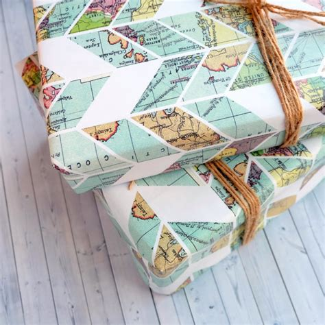 vintage pattern sheets wrapping paper sheets vintage map chevron pattern travel