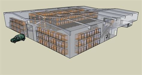 warehouse layout sketchup spare time projects by damien richard mcbarron at coroflot com