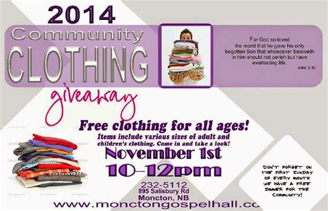 Clothes Giveaway - lost sheep finders digest clothing giveaway 2014 moncton gospel hall