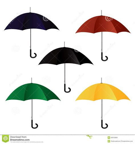 set umbrella set of umbrellas royalty free stock photos image 26310958