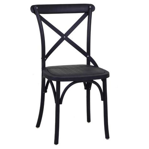 set 2 sedie in plastica nere