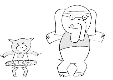 Elephant Piggie Coloring Page Coloring Home | elephant and piggie coloring pages coloring home