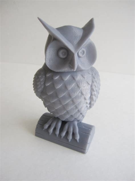 Garden Animal Statues by Items Similar To 3 D Printed Owl Woodland Statue Sculpture