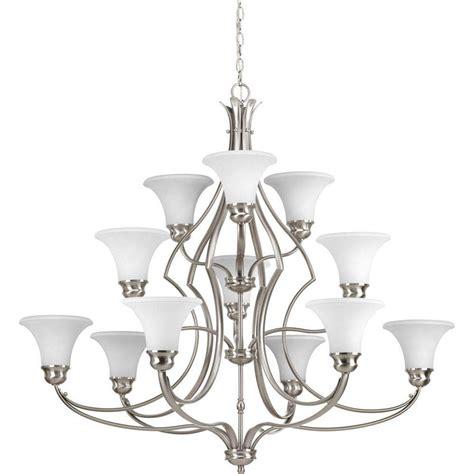 progress lighting brushed nickel chandelier progress lighting applause collection 12 light brushed