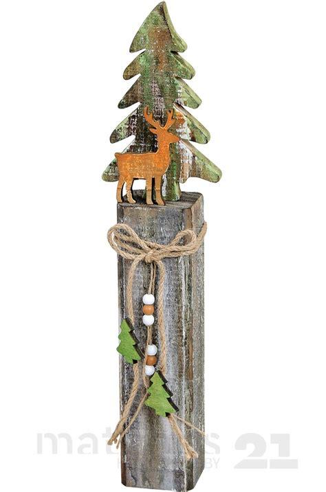 bio tannenbäume dortmund kaufen 2018 holz weihnachtsdeko tannenbaum hirsch auf dekorativem holzpfahl 10x6x42 cm kaufen matches21