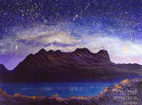 paint nite mountain view starry mountain painting by nancy mcnamer