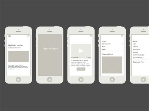 Travellist Wireframe Mocks Sketch Freebie Download Free Resource For Sketch Sketch App Sources Mobile Wireframe Template