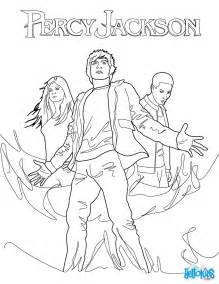 percy annabeth chase grover underwood coloring pages hellokids