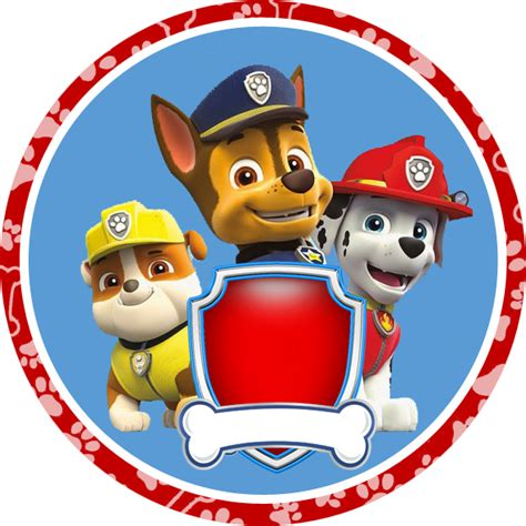 paw patrol party rubble png pictures to pin on pinterest paw patrol en azul y rojo kit para imprimir gratis