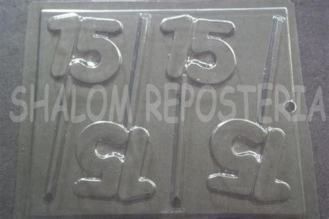 moldes para paletas de chocolate mexico molde paletas de chocolate numero 15 quince anios xv