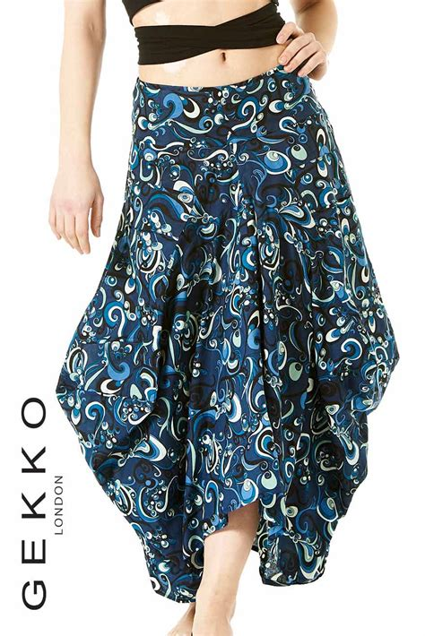 Two Side Draped Skirt draped skirt with side pockets