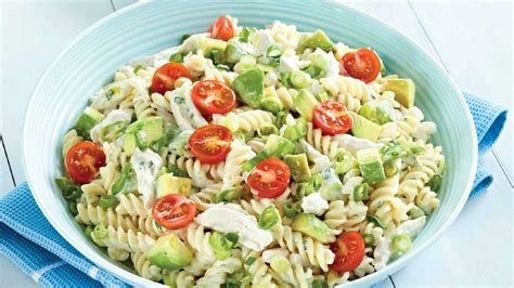 chicken fusilli and avocado pasta salad recipe