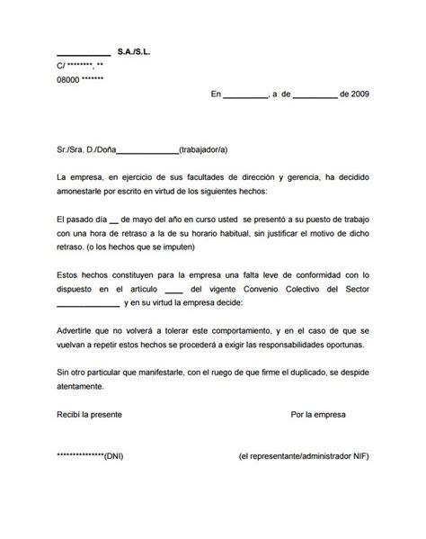 modelo de carta para justificar inasistencia mensajes carta de amonestaci 243 n laboral sanciones a trabajadores