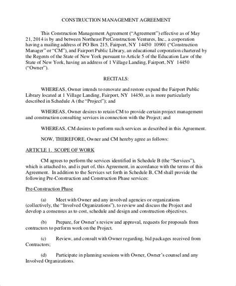 Construction Agreement Templates 8 Pdf Format Download Free Premium Templates Construction Agreement Template